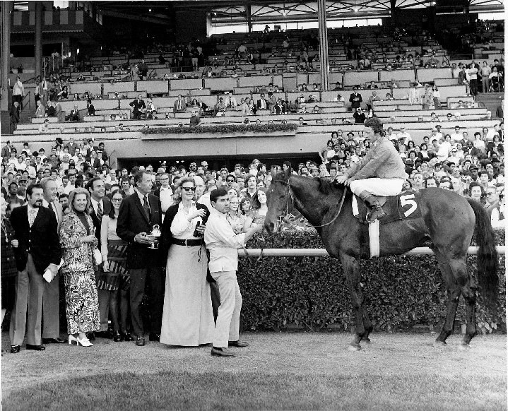 Mary Jones BRADLEY and her champion racehorse Cougar II