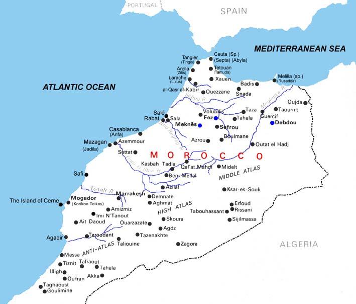 mapa de marrocos Mapa de Estradas de Marrocos, Mapa Muito Grande Marrocos, Marrocos  mapa de marrocos